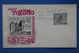 AD14 ESPAGNE   BELLE LETTRE  1967 1ER JOUR TURISMO    + AFFRANCH.  PLAISANT - 1961-70 Storia Postale