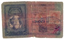 10 Kronen 1904 Mit Zell ? Stempel Und 15 Hekker Karl Briefmarke - Austria