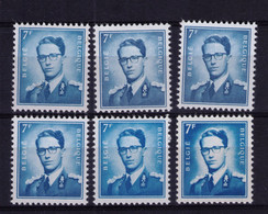 ROI BAUDOUIN ** / MNH 7,00  FR 6 Nuances Départ 1,70 - Unused Stamps