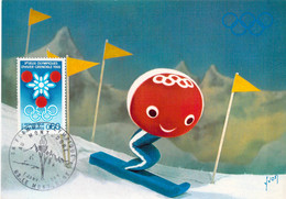 France Card 1968 Grenoble Olympic Games - Torch Relay Mont-Dorf (DD33-49) - Winter 1968: Grenoble