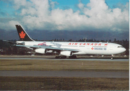 Canadian Airplane Airbus A-340 In The 1998 Nagano Olympic Games Icehockey Player Colours - Mint (DD33-49) - Winter 1998: Nagano
