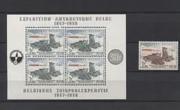 Belgium 1957 Geophysical Year Block & Stamp MNH__(151) - Ongebruikt