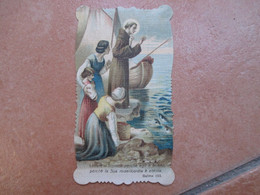 Religione CRISTIANESIMO S.ANTONIO Da Padova Barca Donne Verso SALMO 135 Sagomato - Devotion Images