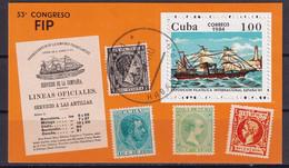 Kuba Block 82 Gestempelt, Internationale Briefmarkenausstellung ESPANA'84 In Madrid - Blocks & Sheetlets