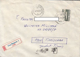 99251- ROMANIAN STAMP'S DAY SPECIAL POSTMARK ON REGISTERED COVER, SHIP STAMP, 1981, ROMANIA - Lettere