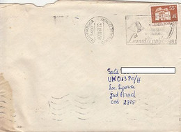 99256- HAPPY NEW YEAR SPECIAL POSTMARK ON COVER, MANOR STAMP, 1981, ROMANIA - Lettere