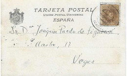 Spain 1902, Postcard Sent From Cadiz To Veger. A1 - Covers & Documents