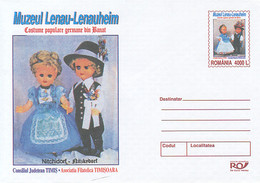 99281- LENAU MUSEUM, FOLKLORE COSTUMES, DOLLS, CHILDRENS, COVER STATIONERY, 2004, ROMANIA - Poppen