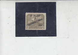 FIUME  1922  - Sassone  183* (SG)  - Costituente Fiumana  -.- - Venezia Giulia