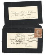 Petite LETTRE 1932 - Faire-part De Deuil - SEMEUSE 25c - TOULON - FAMILLE RAVON - 10, Place PUGET - Covers & Documents