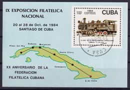 Kuba Block 87 Gestempelt, Nationale Briefmarkenausstellung Santiago De Cuba - Blocks & Sheetlets