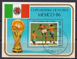 Kuba Block 88 Gestempelt, Fußballweltmeisterschaft 1986 In Mexico - Blocks & Sheetlets