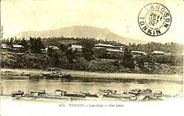 Sur CPA ,cachet De LANG-SON Tonkin -Cachet Violet Administratif  -1904 - - Storia Postale