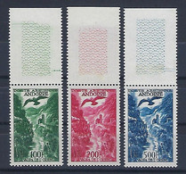 "Andorre Aerien YT 2 à 4 (PA) "" Paysage "" 1955-57 Neuf** BDF - Airmail"