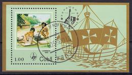Kuba Block 89 Gestempelt, Internationale Briefmarkenausstellung ESPAMER'85 In Havanna - Blocks & Sheetlets