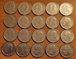 Italie - 50 Lires ( Grand Module ) - Lot De 20 Pèces Toutes Différentes. - 50 Lire