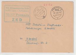 DDR-ZKD: Kastenstempel Vorschriftswidrig In Blaugrün - Official