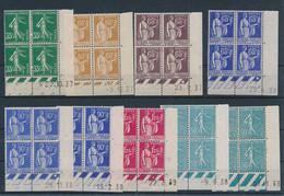 ED-347  FRANCE : Lot Avec Coins Datés** Des N°361-362(2)-364-365-284-368(2)-370 - 1930-1939