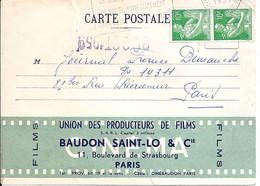 TYPE MOISSONEUSE N° 1115A X 2 SUR CARTE DE L'UNION DES PRODUCTEURS DE FILMS / PARIS / 1959 - 1957-59 Oogst