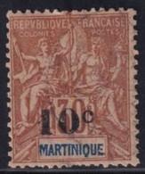 MARTINIQUE - YVERT N° 52 OBLITERE  - COTE 2022 = 19 EUR. - - Gebraucht