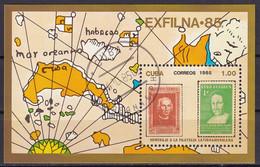 Kuba Block 92 Gestempelt, Internationale Briefmarkenausstellung EXFILNA'85 - Blocks & Sheetlets