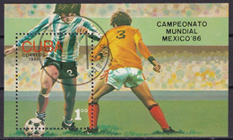 Kuba Block 93 Gestempelt, Fußballweltmeisterschaft In Mexico - Blocks & Sheetlets