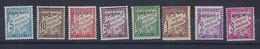 """Andorre Taxe YT 1 à 8 """" Série Duval Surchargé """" 1931-32 Neuf* - Unused Stamps"""