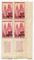 REUNION COIN DATE DU N°338 ** ROUEN DATE DU 1-10-57 - Unused Stamps