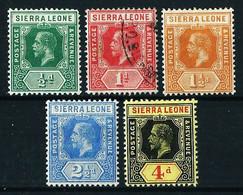 Sierra Leona (Británica) Nº 89/91-93/94 ... - Sierra Leone (...-1960)
