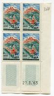 REUNION COIN DATE DU N°360 ** ST FLOUR DATE DU 27-8-63 - Unused Stamps