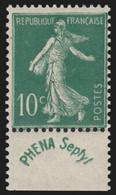N°188, Semeuse 10c Vert Phéna, Neuf ** Sans Charnière - TB - Unused Stamps