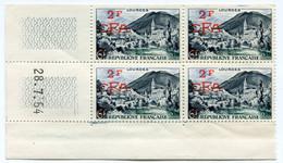 REUNION COIN DATE DU N°310 ** LOURDES DATE DU 28-7-54 - Unused Stamps