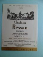 Etiquette Vin 1995 Chateau BESSAN BOUHIER  Cru Bourgeois MEDOC à CIVRAC - Medoc - Bordeaux