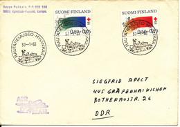 Finland Cover Special Postmark Rautatiemuseo Hyvinkaa 30-1-1980 Red Cross Stamps Locomotive In The Postmark - Brieven En Documenten
