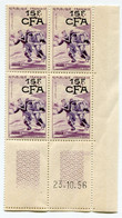 REUNION COIN DATE DU N°329 ** RUGBY DATE DU 23-10-56 - Unused Stamps