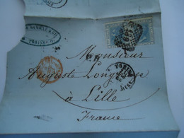 FRANCE   COVER  1868  PAIR STAMPS 7  POSTMARK  4 SCAN - Unclassified