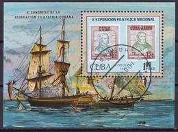 Kuba Block 97 Gestempelt, 10. Nationale Briefmarkenausstellung - Blocks & Sheetlets