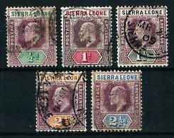 Sierra Leona (Británica) Nº 62/66 Usado - Sierra Leone (...-1960)