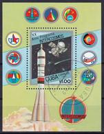 Kuba Block 98 Gestempelt, 20 Jahre Interkosmosptogramm: Satelliten Und Raumsonden - Blocks & Sheetlets