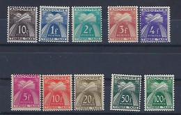 "Andorre Taxe YT 32 à 41 "" Série Complète "" 1946 Neuf**/* - Unused Stamps"