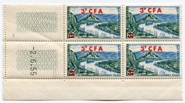 REUNION COIN DATE DU N°311A ** LES ANDELYS DATE DU 2-6-55 - Unused Stamps