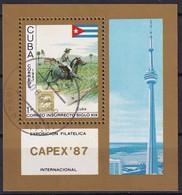 Kuba Block 99 Gestempelt, Internationale Briefmarkenausstellung CAPEX'87 In Toronto - Blocks & Sheetlets