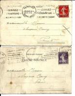 2 CARTES Aff SEMEUSE 1927 Et 1928 - Covers & Documents