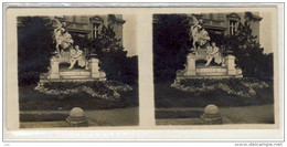 Stereo Photographie - WIEN -  Ferdinand Raimund Denkmal , Monument, Stereoskopie, Stereoscope - Stereoscopi