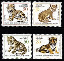 S003F - DDR, 1978 - SC#: 1910-1913 - MNH - YOUNG TIGERS - FELINS - LEIPZIG ZOO CENTENARY - Other
