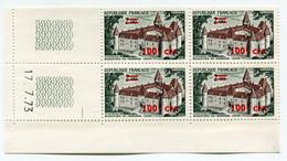 REUNION COIN DATE DU N°417 ** CHATEAU DE BAZOCHES-DU-MORVAND DATE DU 17-7-73 - Unused Stamps