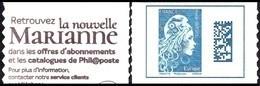 Autoadhésif(s) De France N° 1603,A ** Marianne L'Engagée.Datamatrix. Europe De Carnet - Ongebruikt