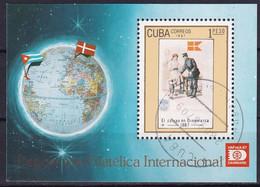 Kuba Block 100 Gestempelt, Internationale Briefmarkenausstellung HAFNIA'87 In Kopenhagen - Blocks & Sheetlets