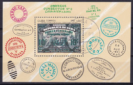 Kuba Block 103 Gestempelt, 150 Jahre Eisenbahn In Cuba - Blocks & Sheetlets