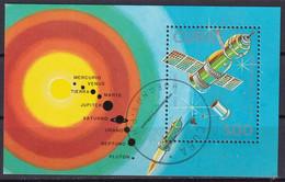 Kuba Block 104 Gestempelt, Tag Der Kosmonautik: Satelliten Und Raumsonden - Blocks & Sheetlets